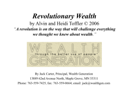 Revolutionary Wealth . ppt