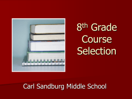 8th Grade Course Selection - Neshaminy School District