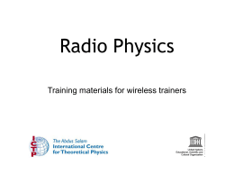 Radio Physics