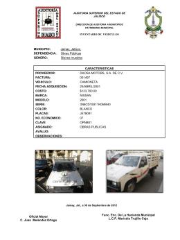 Diapositiva 1 - :::: GOBIERNO MUNICIPIO DE JAMAY 2012 …