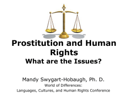 Prostitution and Human Rights