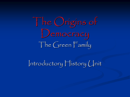 The Origins of Democracy - Vista Unified School District