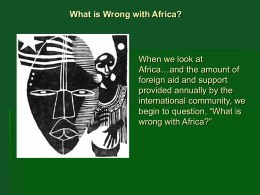 What is Wrong with Africa? - Limestone District School Board