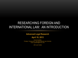 Researching Foreign Law
