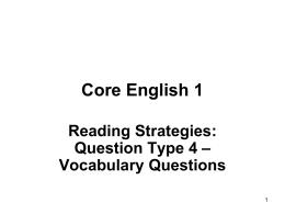 Core English 1