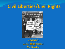 Unit 5: Civil Liberties and Rights Powerpoint