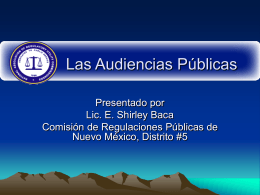 Las Audiencias Publicas