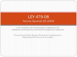LEY 479-08 - DACFLEX.COM