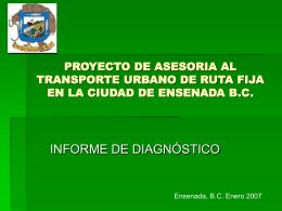 PROYECTO DE ASESORIA AL TRANSPORTE URBANO DE …