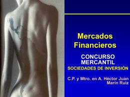 Mercados Financieros - Finanzas – Comercio Internacional