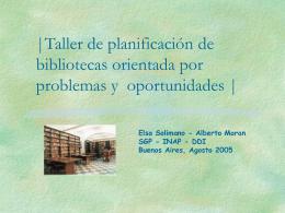 Taller de Planificacion de Bibliotecas