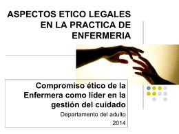 ASPECTOS ETICO LEGALES EN LA PRACTICA DE …