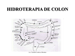 HIDROTERAPIA DE COLON