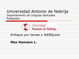Universidad Antonio de Nebrija Departamento de Lenguas