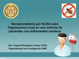Seroprevalencia a Tripanosoma cruzi en pacientes con