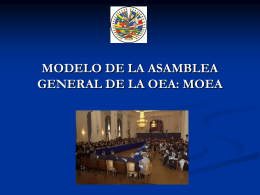 OAS MODEL GENERAL ASSEMBLY