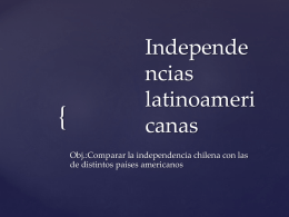 Independencias latinoamericanas