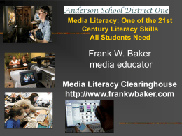 Now That You Know What Media Literacy Is….. How Do …