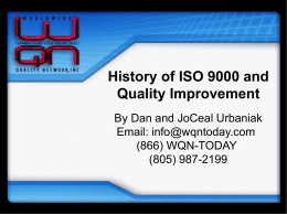 Origin of ISO 9000