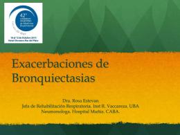 Exacerbacion de Bronquiectasias