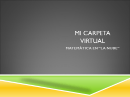 MI CARPETA VIRTUAL