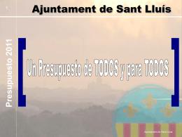 Pressupost 2011 - Ajuntament de Sant Lluis