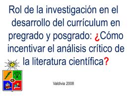 Diapositiva 1 - Portada Facultad de Medicina UACh