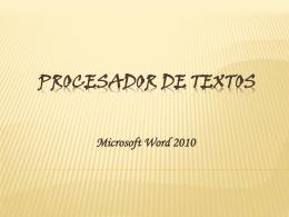 Procesador de textos - Prepa