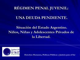 PROYECTO DE REGIMEN DE RESPONSABILIDAD PENAL …