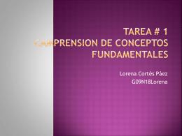 TAREA # 1 CAMPRENSION DE CONCEPTOS …