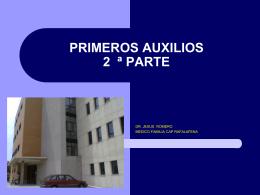 PRIMEROS AUXILIOS - Docencia Rafalafena | Articulos