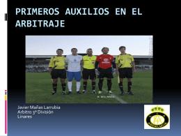 PRIMEROS AUXILIOS EN EL ARBITRAJE