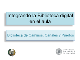 Integrando la Biblioteca digital en el aula