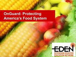 OnGuard: Protecting America's Food System