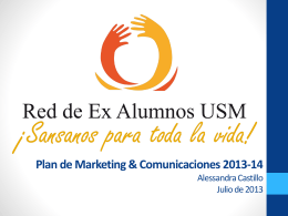 Plan de Marketing & Comunicaciones 2013