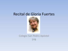Recital de Gloria Fuertes