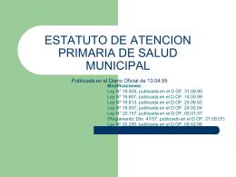 ESTATUTO DE ATENCION PRIMARIA DESTATUTO DE …