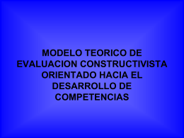 MODELO TEORICO DE EVALUACION CONSTRUCTIVISTA …