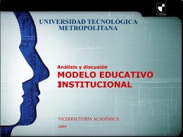 MODELO EDUCATIVO INSTITUCIONAL