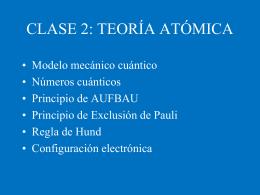 REPRESENTACION ACTUAL DE LA ESTRUCTURA DEL ATOMO