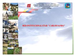 MODELO DE RED INSTITUCIONAL