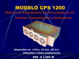 MODELO CPS 1200 - AMV Electronica