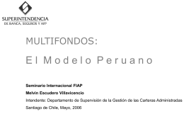 Multifondos: Modelo Peruano
