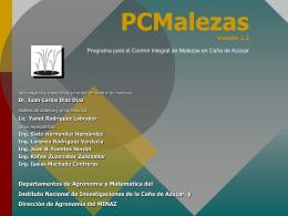 Sistema Experto PCMalezas Programa para el Control