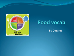 Food vocab