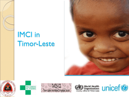 IMCI program: Updates, challenges and upcoming plan