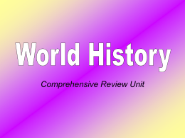World History Comprehensive Review Unit