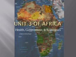 Unit 3 of Africa