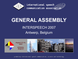 ISCA 2003 General Assembly