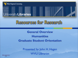 University Library Resources